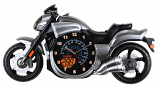 23X12 GREY BIKE WALL CLOCK