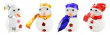 "4PC SET OF 5"" XMAS TREE ORNAMENT, ASSORTED SNOWMEN"