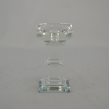 "6"" CRYSTAL CANDLE HOLDER"