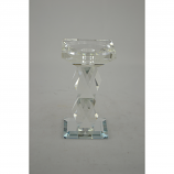 "6.5"" CRYSTAL CANDLE HOLDER"