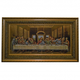 39X23 LAST SUPPER IN GOLD FRAME