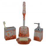 5-PC BATHROOM SET, COPPER SPECKS