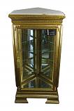36.5X18X15 PENTAGONAL GOLD CORNER CURIO W/ MARBLE