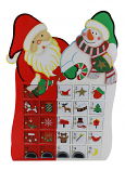 16X11 ST CLAUS & SNOWMAN ADVENT CALENDAR
