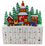 16X15 ST CLAUS ON TRAIN ADVENT CALENDAR