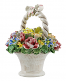 "10"" FLOWER BASKET W/ HANDLE & BOW"