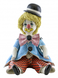 "6"" CLOWN, BLK HAT"