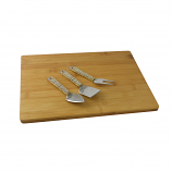 CHEESE BOARD W/ 3PC UTENSIL SET, GOLD & CRYSTAL PIECES