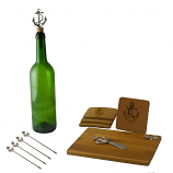 11-PC WINE & CHEESE SET, SILVER ANCHOR