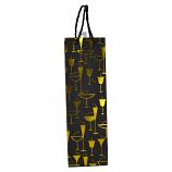 "14"" WINE BAG, ASSORTED GOLD GLASSES"