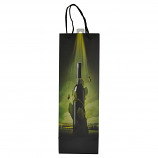 "14"" WINE BAG, WINE BOTTLE IN GREEN SUN RAYS"