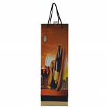 "14"" WINE BAG, BOTTLE & GLASSES IN MOONLIGHT"