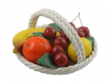 "6.5"" ROUND FRUIT BASKET"
