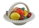 "9"" FRUIT BASKET W/ HANDLE"