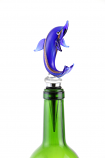 "6"" BOTTLE STOPPER, PURPLE DOLPHIN"