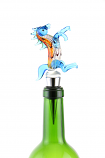 "5"" BOTTLE STOPPER, BLUE HORSE"