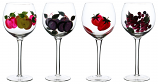 "4PC SET OF 8.5"" DECORATED WINE"