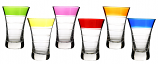 "6-PC SET OF 3.5"" MULTICOLOR SHOT GLASS"