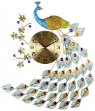 24X31 PEACOCK WALL CLOCK