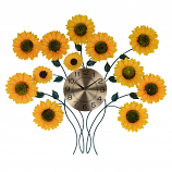 31X27 WALL CLOCK W/ SUNFLOWERS
