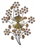 28X22 WALL CLOCK, COPPER FLOWERS