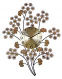 28X22 WALL CLOCK, COPPER FLOWERS