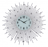 "27"" ROUND WALL CLOCK, BLACK SPOKES"