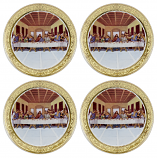 "4-PC 9.5"" PLATES, LAST SUPPER"