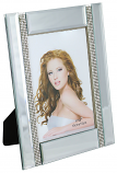 8.5X6.5 FRAME FOR 4X6 PHOTO, 2 CRYSTAL LINES