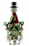 BOTTLE HOLDER, SNOWMAN HO-HO-HO