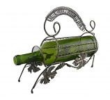 BOTTLE HOLDER, GRAPE LEAVES AND HANDLE