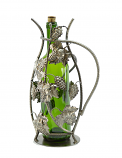 "13"" WINE BOTTLE HOLDER, GRAPES"
