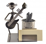 5.5X4X7.5 GUITAR PLAYER PEN & BIZ. CARD HOLDER