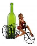 11X9 BOTTLE HOLDER, LADY IN RED