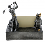 6X6 BIZ CARD HOLDER, GOLFER