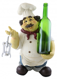 "18"" CHEF BOTTLE HOLDER W/ CORK OPENER"