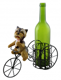 11X9 BOTTLE HOLDER, DOG W/ BOTTLE