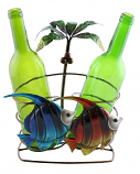 11X9 PALM TREE AND FISH 2 BOTTLE HOLDER