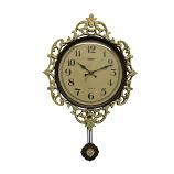 27X18 WALL CLOCK W/ PENDULUM